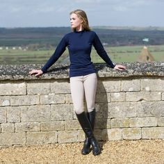 Sweater breeches riding boots outfit
