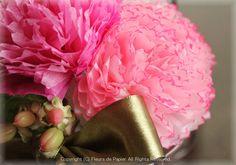母の日のプレゼントにも・・お花紙カーネーションの額飾り 〜ペーパーフラワー〜 の画像|Paper Flowers 〜ペーパーフラワーデザイナー 前田京子(日本ペーパーアート協会)〜