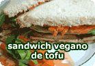 Sandwich vegano de tofu :: receta vegetariana