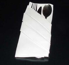 Napkin Folding Guide:  Finished Silverware Pouch