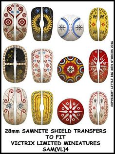 Shield transfers for Victrix Samnite Warrior sets both unarmoured and…