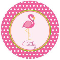 Personalized Flamingo Melamine Plate by sweetmadygifts on Etsy, $24.00