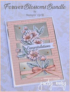 CASE-ing the Catty – Sketch Challenge Stampin 'Up! Forever Blossoms Bundle – Judy May, Nur Judy Designs, Melbourne Wedding Anniversary Cards, Wedding Cards, Tarjetas Stampin Up, Paris Cards, Karten Diy, Stamping Up Cards, Congratulations Card, Card Sketches, Flower Cards
