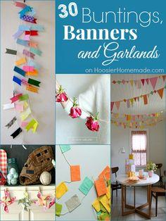 30 Buntings, Banners and Garlands on HoosierHomemade.com