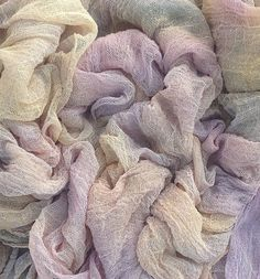 Hand Dyed Cotton Scrim Gauze Art Cloth Scarf by OliverTwistsFibres