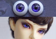 matalic blue purple galaxy acrylic BJD doll eyes 8mm 10mm 12mm 14mm 16mm 18mm 20mm