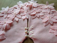 Tree Skirt Pink Felt Small Easter Tree by thegiftgardenshoppe
