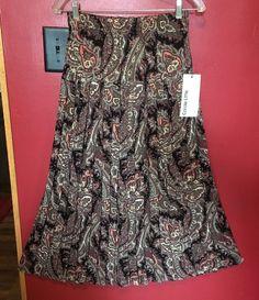 2dc7e405c Carole Little For Saint Tropez West Womens Skirt Sz 12 Pleated Paisley  Aline NWT #fashion