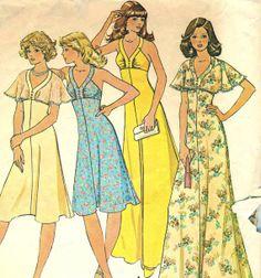 Vintage 70s McCalls 4534 CUT Misses Sundress Halter by RomasMaison, $10.00