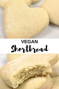 These vegan Scottish shortbread cookies are extra crumbly due to the addition of 1 secret ingredient! These vegan Scottish shortbread cookies are extra crumbly due to the addition of 1 secret ingredient! Easy Cookie Recipes, Healthy Dessert Recipes, Baking Recipes, Baking Desserts, Healthy Baking, Diet Recipes, Vegan Shortbread, Scottish Shortbread Cookies, Shortbread Recipes