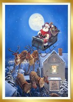 Special Delivery by George Kovach ~ Santa in his sleigh. Just like 'Twas the Night before Christmas. I have to get this some day!