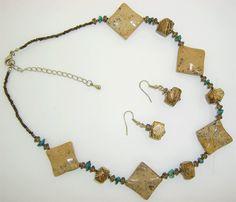 Beige Jasper Natural Stone Necklace