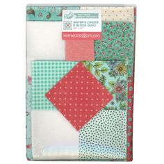 Roam Sweet Home Sisters Choice 6 Block Quilt Kit by Kris Lammers - Maywood Studio Flamingo Fabric, Floral Fabric, Quilt Kits, Quilt Blocks, Kit S, Sweet Home, Small Baby, Small Quilts, Easy Peasy