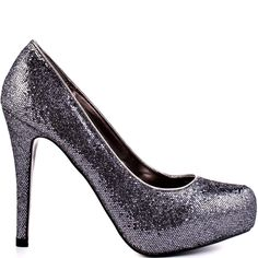 You'll feel worthy enough to have your name written on the marquee with this sparkly style.  Just Fab's Finley features a pewter shimmery speckled upper.  Hear the encore and take your bow in the 4 1/2 inch heel and 1/2 inch hidden platform.