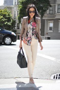 Leather jacket - ALC  Blouse - Zara   Jeans - thanks to JBrand  Sandals - Fendi   Purse - Celine