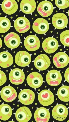 Cartoon wallpaper, disney wallpaper, i wallpaper, wallpaper for your phone, pattern wallpaper Wallpaper For Your Phone, Wallpaper Iphone Cute, Screen Wallpaper, Cartoon Wallpaper, Wallpaper Backgrounds, Cute Disney Wallpaper, Trendy Wallpaper, Cute Wallpapers, Mike From Monsters Inc