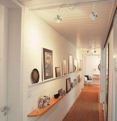 Decoration ideas for narrow corridor ▷ narrow hallway ideas for optimal furnishings Narrow hal Interior Design Examples, Beautiful Interior Design, Best Interior Design, Beautiful Interiors, Design Ideas, Flur Design, Wall Design, House Design, Narrow Cabinet