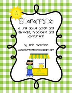 Your students will love learning about goods, services, producers, and consumers with this unit! Included in this unit are the following activities...