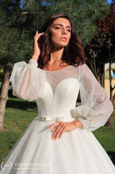 TheFashionBrides – The FashionBrides Gowns With Sleeves, White Dress, Formal Dresses, Fashion, Dresses With Sleeves, Dresses For Formal, Moda, Sleeve Dresses, La Mode