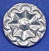 Three Feathers Pewter Fleurette Button Tricorn Hat Cockade - Rev. War Period - Man's, Woman's, Child's Buttons