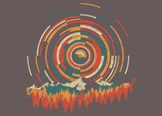 The Geometry of Sunrise by Dianne Delahunty | Threadless