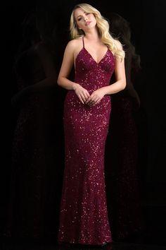 Scala 47542 Open Back Dress