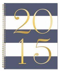 Grey striped 2015 notebook