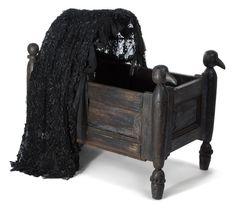 "Addams Family Values ""Pubert"" gothic baby crib. Lot 1352"