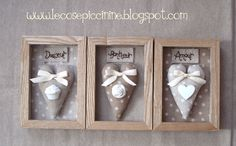 Le cose piccinine: Gessi profumati lovely hearts in frames love, happiness, sweetness Estilo Country, Heart Decorations, Wooden Hearts, Pallet Projects, Vintage Beauty, Wall Collage, Homemade Gifts, Country Decor, Picture Frames