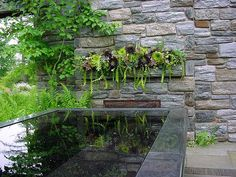 Gorgeous planted mantle and water table in the Ruin Garden at Chanticleer.