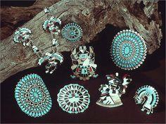 Zuni Indian Turquoise Jewelry
