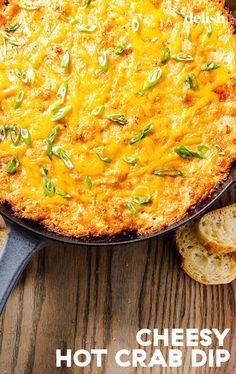 Creamy Hot Crab Dip has bold seafood flavors and is topped with melty cheddar for the ultimate snacking experience. Appetizer Dips, Appetizer Recipes, Crab Dip Recipes, Seafood Recipes, Hot Crab Dip, Football Food, Popular Recipes, Delish, Cooking Recipes