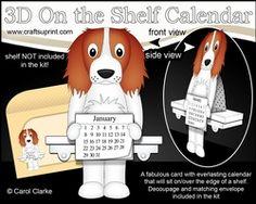 3D On The Shelf Everlasting Calendar Kit - Springer Spaniel Dog Baxter