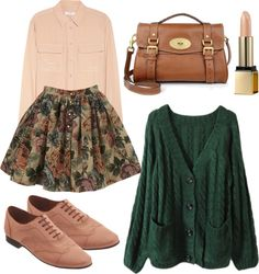 Colors, skirt should be longer, different shoes, but love the colors aesthetic clothes Look Fashion, Teen Fashion, Autumn Fashion, Fashion Outfits, Womens Fashion, Outfits For Teens, Fall Outfits, Casual Outfits, Cute Outfits