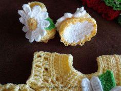 Crochet Baby Dress Vestido del ganchillo de bebé conjunto con por BabyBeautiful...