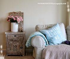 Toukokuun Tyttö - My Villa May Decor, Furniture, Accent Chairs, Throw Pillows, Chair, Home Decor, Villa, Bed, Pillows