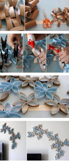 Decorazioni con tubi di cartone #riciclo #carta #handmade #diy fonte: web