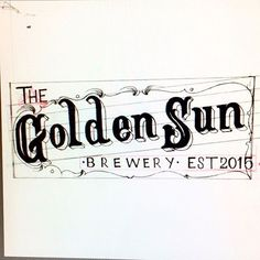 Raw sketch of this hand drawn work for Golden Sun Brewery. Looking to complete this in the days to come here shortly. Really excited to see this one get put to use. #handdrawn #typography #calligraphy #sketch #wip #design #webdesign #coding #html #css #javascript #southerncalifornia #socal #losangeles #santaana #orangecounty #goldensunbrewery #beer #quality #lettering #letterstoliveby #graphicdesign