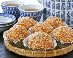 Make these popular dim sum favorite, Jian Dui or Sesame Seed Balls at home. These are gluten free with a little sweet potato mixed into the dough.