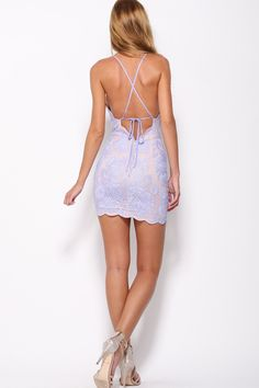 Sexy Lace Backless Dress. Perfect party dress or for a night out. Holiday and New Years Dress.