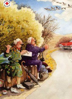Старушки-Веселушки от Инге Лёёк.2334