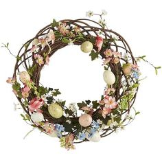 Ah, the joy of spring. Why not celebrate it in style, with a profusion of baby florals and easter eggs, artfully arrayed in a wreath for your door, mantel, window or tabletop? Handcrafted exclusively for Pier 1, our arrangement brings just the right touch of color and tender textures to your Bunny Tales decor.