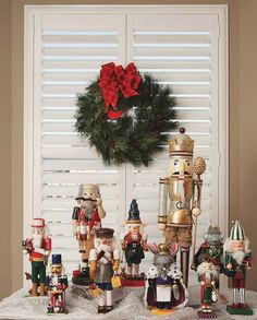 Let your beautiful window shutters be a part of your Christmas décor to give your home a more joyful and cozy look for the holidays ⛄🎄 Cafe Shutters, Window Shutters, Bathroom Goals, Bathroom Inspo, Christmas Decorations, Table Decorations, Holiday Decor, Traditional Shutters, Bathroom Accessories