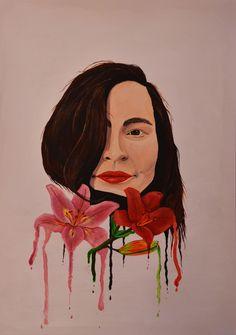 #14 Selfportrait- acrylics