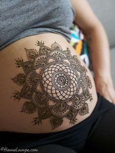 Henna Lounge freaking gorgeous mandala belly henna!!