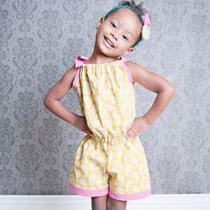 Pillowcase Romper Pattern, Girls Romper Sewing Pattern, Easy PDF Sewing Patterns, Girls, Children, Toddler, Baby, Size 3m-5T Bree Romper via Etsy