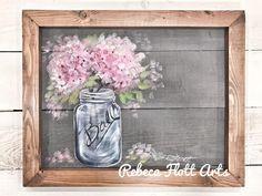 Items similar to Gerbera daisy, pink daisy, pink flower, flower, window screen hand painting on Etsy Pink Hydrangea, Hydrangeas, Christmas Tree Art, Farmhouse Fabric, Rustic Art, T Art, Pink Daisy, Outdoor Art, Chinoiserie