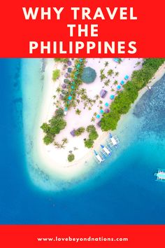 Searching a unique travel destination. The Philippines offer a lot to discover. Find out out the 5 main reasons for visiting them ASAP! We The People, Good People, Places To Travel, Travel Destinations, Small Island, Tropical Paradise, Travel Guides, Philippines, Explore