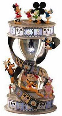 Disney Mickey and Friends Hourglass Snow Globe
