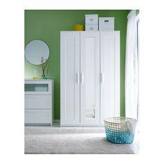 IKEA BRIMNES wardrobe with 3 doors Adjustable hinges ensure that the doors hang straight.